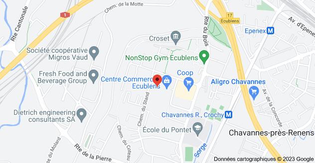 Chemin du Croset 9, 1024 Ecublens: carte