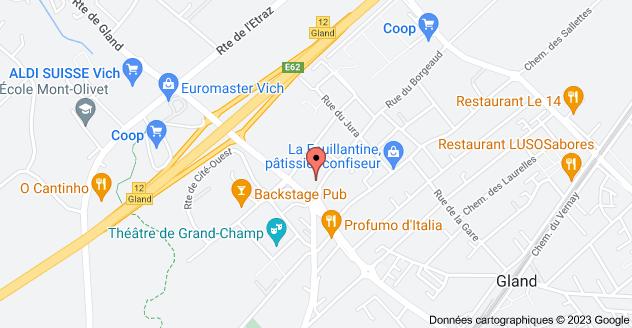 Rue du Borgeaud 1B, 1196 Gland: carte